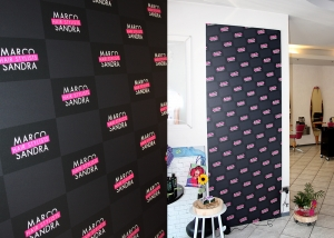 native studio grafico poggio rusco grafica backdrop Marco Sandra hairstylists