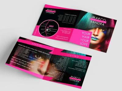 native studio grafico poggio rusco grafica pieghevole Marco Sandra Hairstylists