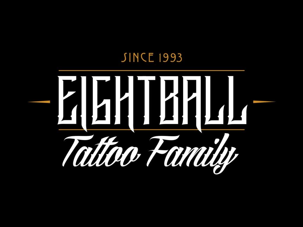 native studio grafico poggio rusco grafica logo eightball tattoo