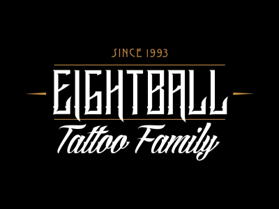 native studio grafico poggio rusco grafica logo eightball tattoo