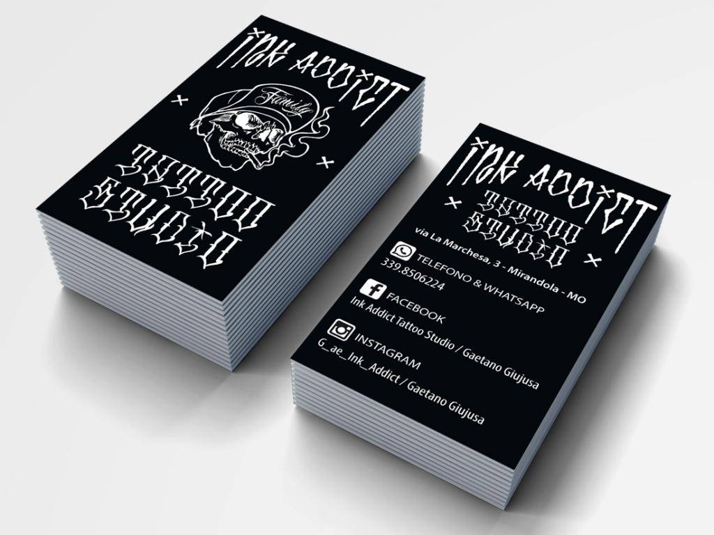 Eccezionale grafica business card Ink Addict - NATIVE STUDIO Poggio Rusco AL73