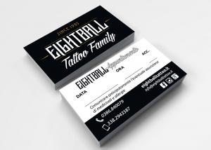 native studio grafico poggio rusco grafica biglietto da visita eightball tattoo